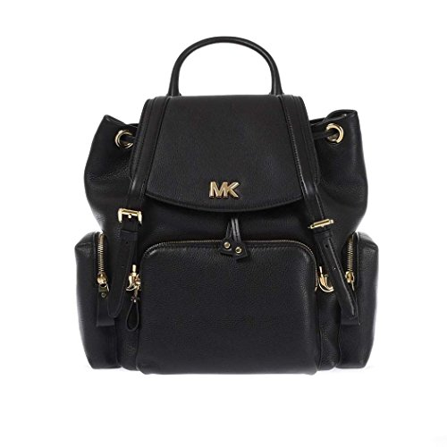 Women's Accessories Michael Kors Beacon Black Leather Backpack Spring Summer 2018 by Michael Kors