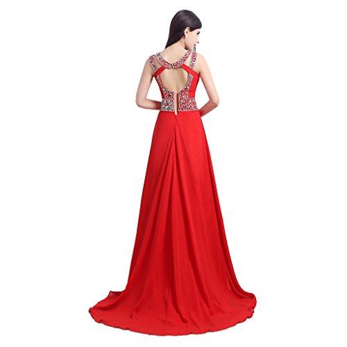 YSFS - Vestido - para mujer Rosso