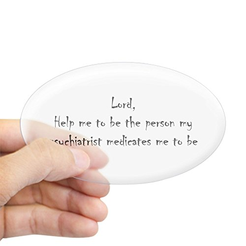 CafePress - Dear Lord Oval Sticker - Oval Bumper Sticker, Euro Oval Car Decal