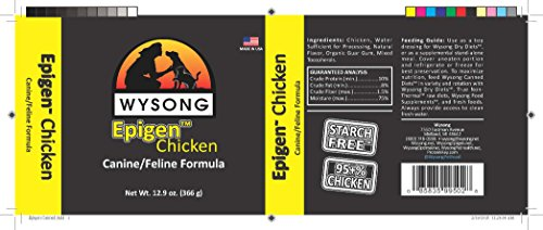 Image of Wysong Epigen Chicken Canine/Feline Canned Formula Dog/Cat/Ferret Food, Twelve- 12.9 Ounce Cans