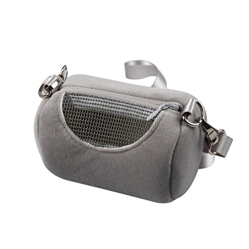 FidgetKute Small Pet Rat Hamster Hedgehog Chinchilla Ferret Carrier Warm Hanging Bag Supply 2# Grey 12x7cm from FidgetKute