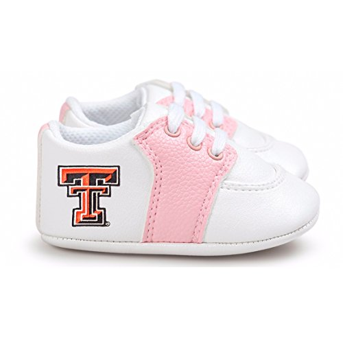 Future Tailgater Texas Tech Red Raiders Pre-Walker Baby Shoes - Pink Trim (Tailgater Raiders Texas Red Tech)