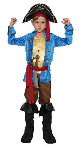Jake Pirates Halloween (Boys Pirate Costume Halloween Kids Deluxe Costume Set (Captain 4-6)