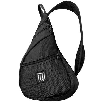 ful Unisex Adult Peabody Sling Bag (Black, 17 x 8 x 6-Inch ...