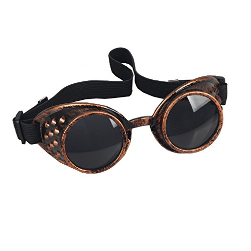 Careonline Vintage STEAMPUNK GOGGLES Glasses COSPLAY PARTY Sunglasses Eyewear Safty Goggles