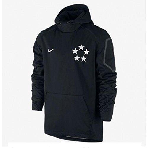 Men's Nike Field General Fly Rush 2.0 Football Jacket Hoodie Black 684371-011 (3XL) (Nike Football Sweatshirt)