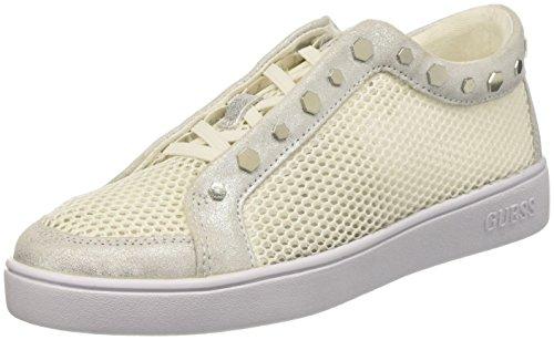 Guess Gisela, Zapatillas de Tenis para Mujer Blanco (White White)