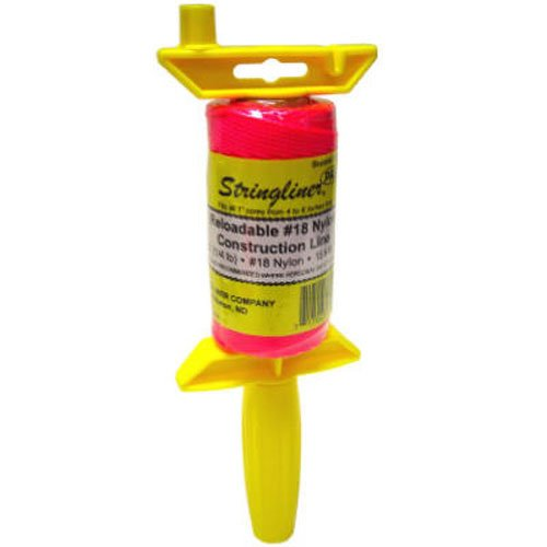 STRINGLINER COMPANY Not Available 25162 Braided 250-Feet Reloadable Line Reel, Fluorescent Pink