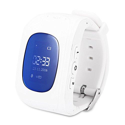 EoCot Kids GPS Intelligent Telephone Pedometer LCD Display Smartwatch White ENGLISH VERSION