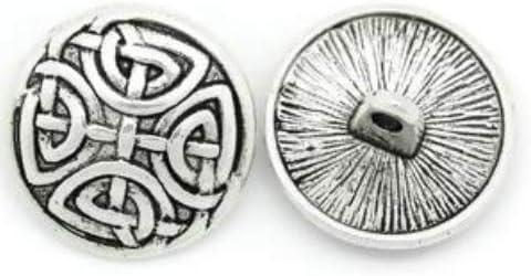 17mm mit Keltik-Muster antiksilber Handarbeit-Lieblingsladen 15 St/ück Metallkn/öpfe /Ösenkn/öpfe /Ø ca