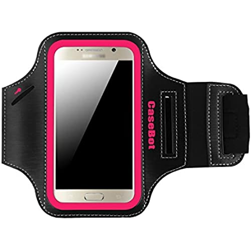 Fintie Samsung Galaxy S7 / S6 / S6 Edge Armband - [CaseBot Sports Armband] With Built in Reflective Strip + Water Resistant + Sweat Proof + Key Holder + ID / Credit Sales