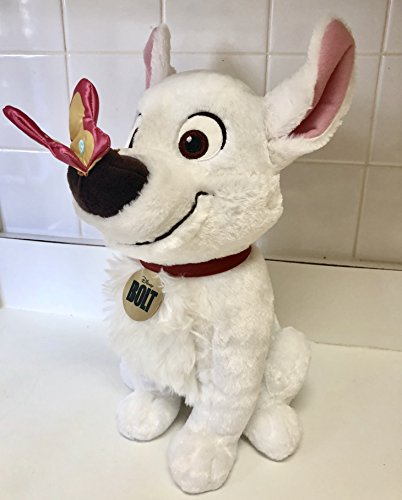 Disney Bolt Dog 13 Plush Butterfly On Nose Easter Spring Plush Soft Stuffed Doll