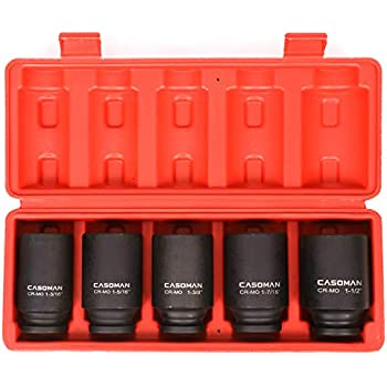 """10PC 1//2/"""" DR FRONT /& BACK WHEEL DRIVE  AXLE DEEP IMPACT SOCKET SET MM AND SAE"""