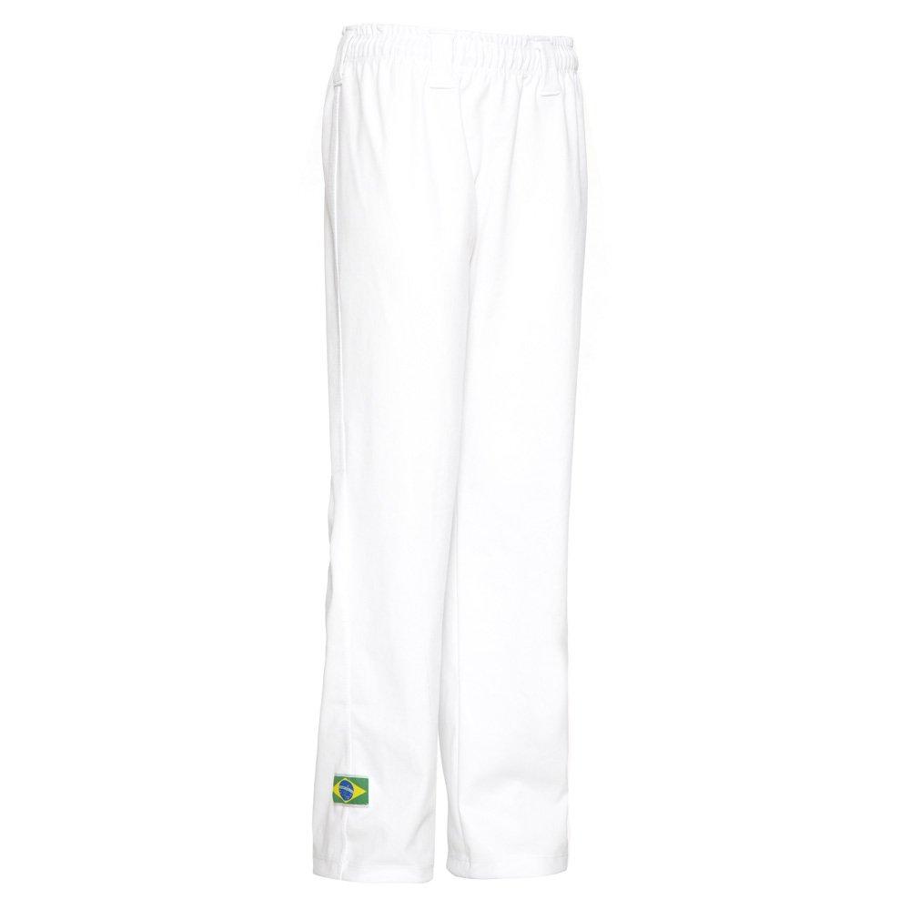 Jlsport Unisex Blanco Brasil Capoeira ni/ños Abada entrenamiento de artes marciales a pantalones el/ásticos de 6-14 a/ños edad 5-6
