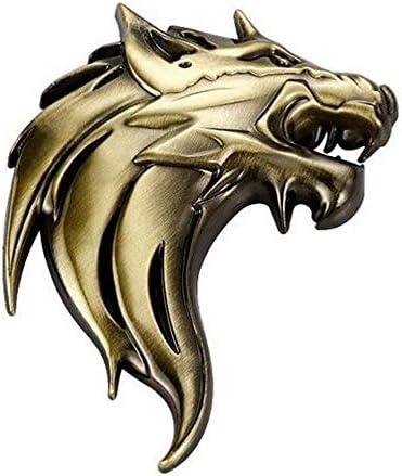 Seraphis Wolf Kopf Gold 3d Metall Auto Aufkleber Emblem Abzeichen Dekoration Aufkleber Decals Spielzeug