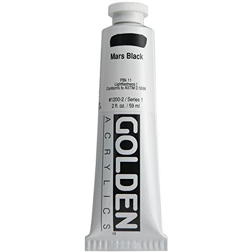 Golden Heavy Body Acrylic Paint, 2-Ounce, Mars Black
