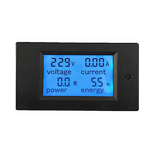 Mimgo Store New AC 80-260V LCD Digital 20A Volt Watt Power Meter Ammeter ()