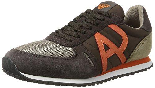 Armani Jeans Low Cut, Sneaker Uomo Marrone (Brown 1771 05952)