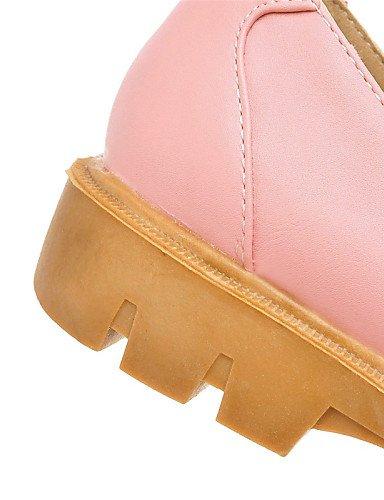 Uk4 Bajo Mocasines Mujer 5 Azul Rosa Oficina Cn36 Semicuero Gyht Punta Zq Eu36 Zapatos Uk Eu43 us6 Redonda 5 us11 Trabajo Y Casual Tacón Beige De Pink Pink Uk9 Vestido Cn45 wagXtCtq8x