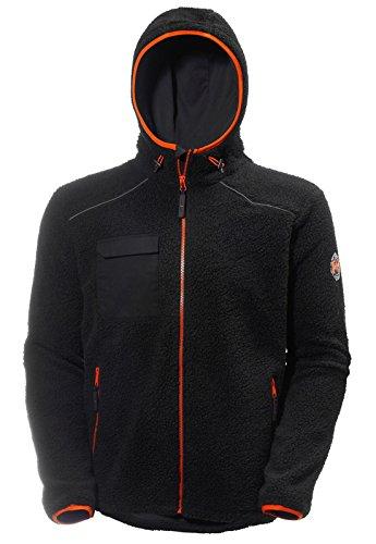 Helly Hansen Work Wear Men's Chelsea Pile Polartec Hoodie Jacket, Black/Charcoal, X-Large from Helly Hansen