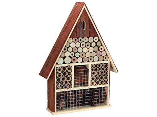 Perel Insektenhotel aus Holz, groß, 49 x 35 x 9 cm, braun, BB50503 groß