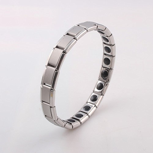 Titanium Magnetic Therapy Bracelet Pain Relief For Arthritis Carpal Tunnel Stainless Steel Bangle For Women - Bracelet Therapy Magnetic Stainless Steel