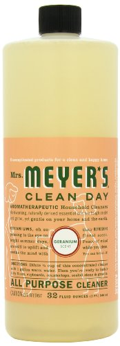 Mrs. Meyer's Clean Day All Purpose Cleaner, Geranium, 32-Ounce Bottles (Pack of 6)