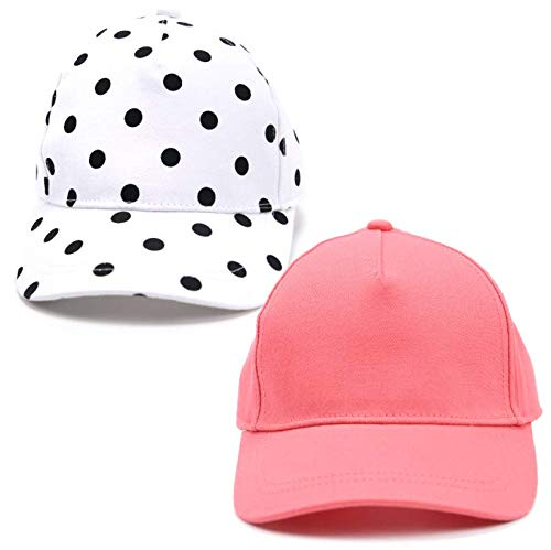 accsa Toddler Kids Girl Baseball Cap Trucker Hat UPF Sun Protection 2 Pack Age 2-5Y by accsa (Image #8)