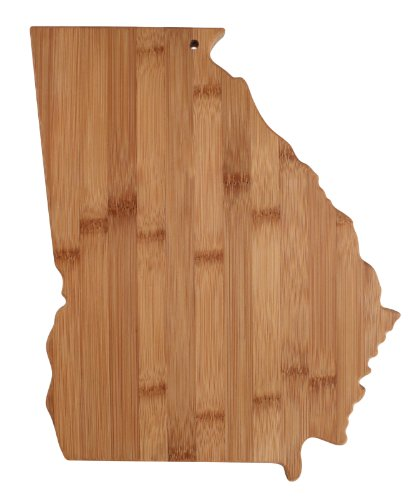 "Totally Bamboo State Cutting & Serving Board – ""GEORGIA"", 100% Organic Bamboo Cutting Board, Extremely Strong and Durable Perfect for Cooking, Entertaining, Décor and Gift Set. Designed in USA"