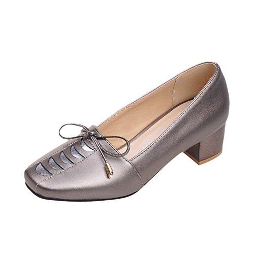 Mostrar Los Zapatos De Mocasines De Arco Dulce De Shine Mujeres Fashion Dark Grey