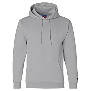 Champion Men's Front Pocket Pullover Hoodie Sweatshirt, Large, Light Steel