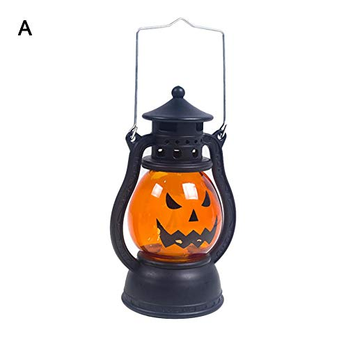 Qidel Halloween Pumpkin Lights, Cute LED Pumpkin Night Light Lamp for Harvest Festival and Halloween -