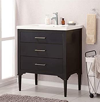Design Element Mason 30 Single Sink Bathroom Vanity In Espresso With Pre Assembled Vanity And Ceramic Undermount Sink Amazon Com