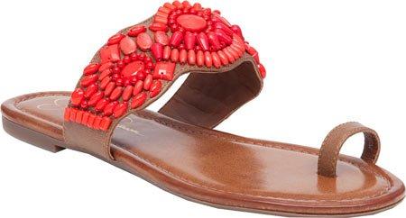 Sandals Jessica Truffle Beaded Flat Razzel Brown Womens Toe Simpson Loop Uw6UPZq0