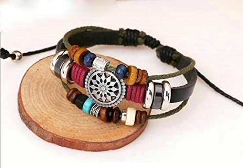 Usstore Women Lady Bohemia Wind Beaded Multilayer Hand Woven Bracelet Jewelry