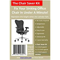 The Original Chair Saver Kit, Grey - Fix Your Sinking Office Chair Quick, No Tools Needed