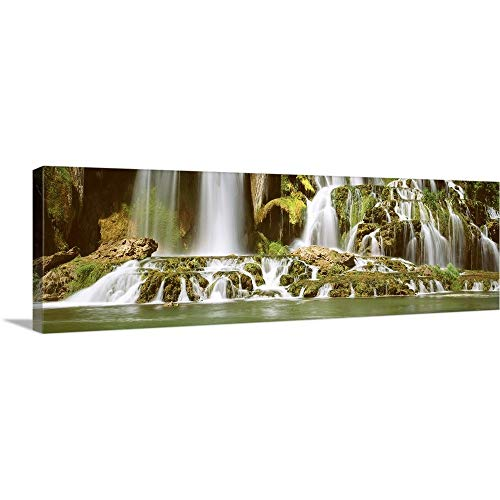 (GREATBIGCANVAS Gallery-Wrapped Canvas Entitled Tributary Waterfall Snake River ID by 60