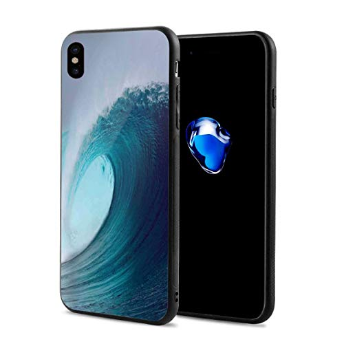 Phone Case Cover for iPhone X XS,Tropical Surfing Wave On A Windy Sea Indonesia Sumatra,Compatible with iPhone X/XS 5.8