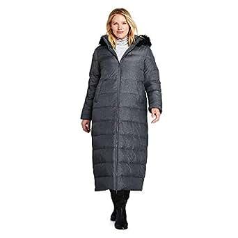 Lands' End Women's Winter Long Down Coat with Faux Fur
