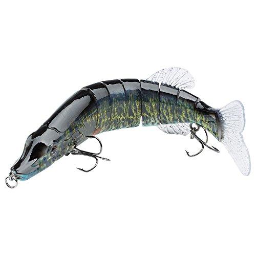 Bassdash Swimpike Multi Jointed Swimbaits Bass Fishing Lure Hard Body Soft Fins 8