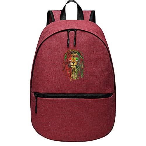 GSGSDG Kids/Youth Tete Du Lion Rasta School Backpacks Casual Travel Laptop Backpack Durable Computer Bookbag