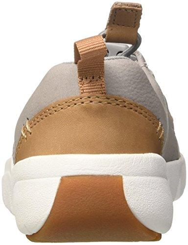 Clarks Tri Weave, Zapatillas Para Niños Gris (Grey Leather)