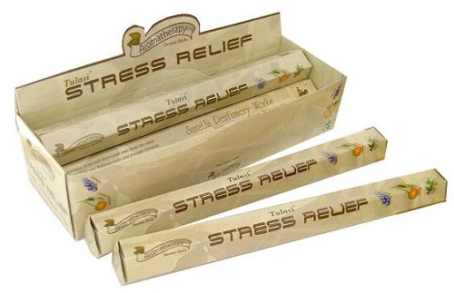 - Stress Relief - Box of Six 20 Stick Hex Tubes - Tulasi Incense