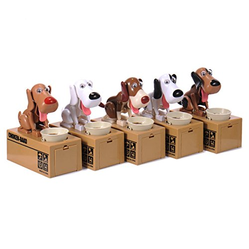 Puppy Hungry Eating Dog Coin Bank Money Saving Box Bank Present - Sales Usa Refund Tax