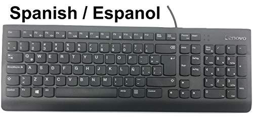 Lenovo ESPAÑOL Spanish Latin American Keyboard Teclado De Computadora KU-1601 FRU #0XH611 SD50L21349 USB Wired Cableado