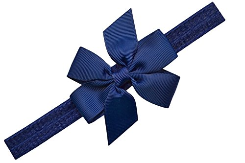 baby-girl-simple-bow-elastic-headband-by-funny-girl-designs-0-6-months-13-head-circumference-navy-bl