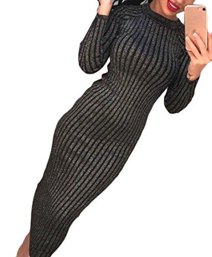 Girocollo Colore Puro Coolred Sottile Paillette Pacchetto Di Nero donne Vestito Di Banda Dell'anca nnzqOPFw