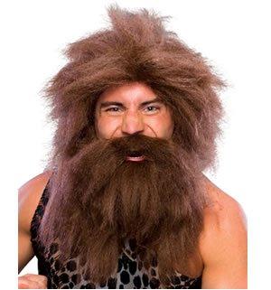 Rubie's Caveman Wig & Beard Set Costume (Prehistoric Beard & Costumes Wig Set)