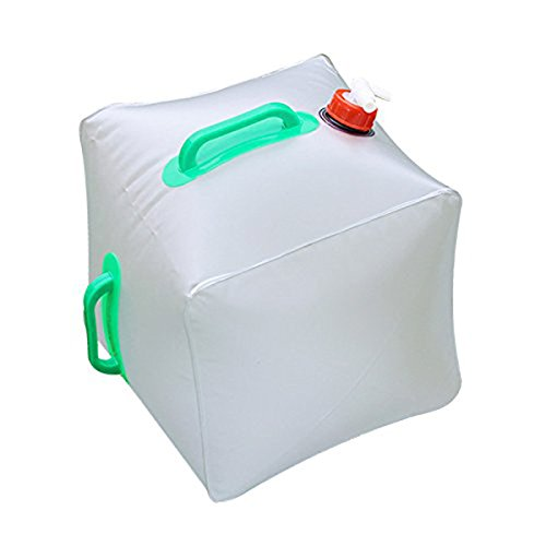 WINOMO Water Container Collapsible Water Container Topist 5 Gallon/20L Portable Water Carrier Bag / Emergency Cube Water Bag Outdoor Water Storage for Camping Hiking Climbing Backpacking by WINOMO