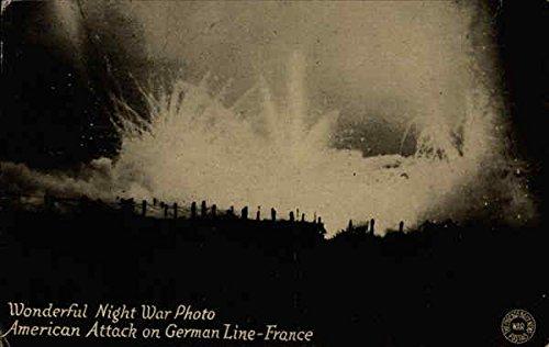 Wonderful Night War Photo American Attack on German Line-France Original Vintage Postcard